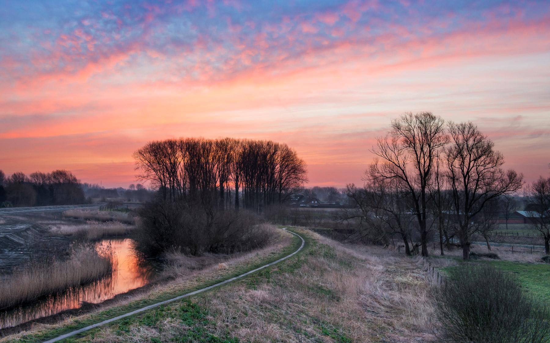 Blog-Sunset in Lokeren near Durme