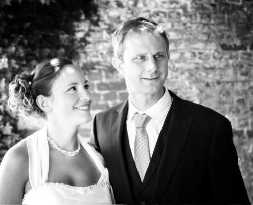 zwart wit foto van huwelijkspaar, huwelijksfotografie in Kampenhout, Brussel, trouwfotograaf, trouwfotografie
